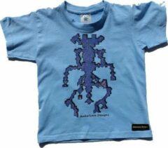 B & C Anha'Lore Designs - Alien - Kinder t-shirt - Lichtblauw - 3/4j