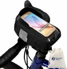 Merkloos / Sans marque Fiets Stuurtas Smartphone Houder | Fietstas Stuur Smartphone | Telefoonhouder Tas Fiets | Bag Bicycle Smartphone | Zwart