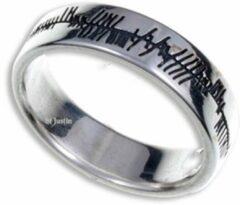 St Justin Ltd Ogham liefde Zilveren ring maat 65