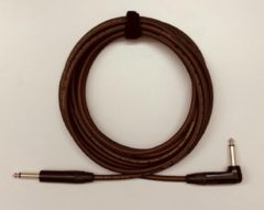 Tasker T33 Brown 9m 6.3mm TS jack gitaarkabel