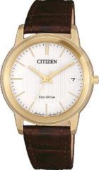Citizen Horloge - Citizen dames horloge - Goud - diameter 33 mm - goud gecoat roestvrij staal