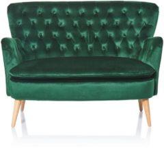 MiaVILLA Sofa, 2-Sitzer Lea, Knopfheftung, Chesterfield-Stil, Samtbezug
