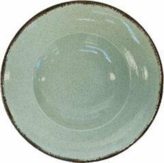 Kitchen trend - servies - spaghettibord - ocean zeegroen - set van 6 - rond 27 cm
