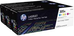 HP 305A CF370AM Tonercassette Combipack Cyaan, Magenta, Geel 2600 bladzijden Origineel Tonercassette