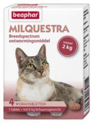Beaphar Milquestra Kat Rund - Anti wormenmiddel - 4 tab 2 Tot 12 Kg
