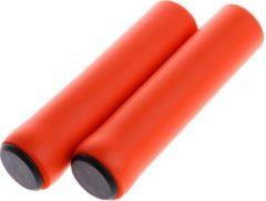 MTB Cycling MTB lichtgewicht soft GRIP handvatten 130mm SILICONE foam 35g LIGHTWEIGHT- Oranje