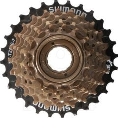SHIMANO MF-TZ500-7 Schraubkranz Schraubkassette 7 fach, 14-16-18-20-22-24-28 Zähne Kassette Fahrrad