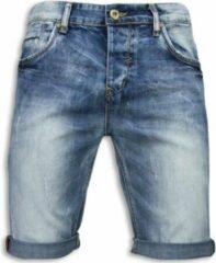 True Rise Basic Korte Broek Heren - Blauw Korte Broek Short Jeans Maat W31