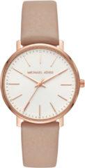 Michael Kors MK2748 Horloge Pyper staal-leder rosekleurig-roze 38 mm