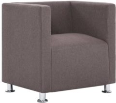 Bruine 5 days Fauteuil kubus polyester taupe