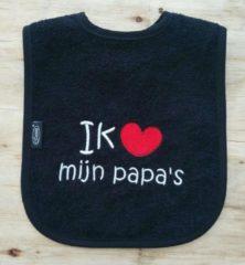 """Onze Miep Zwarte slab met de tekst: """"Ik hou van mijn papa's"""""""