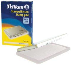 Witte Pelikan Stempelkissen 7 x 11 cm ungetränkt, Metallic-Behuizing