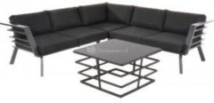 Antraciet-grijze Outdoor Living loungeset Regatta - antraciet