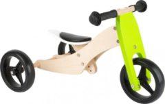 Small Foot Company Small Foot Tricycle Trike 2-in-1 Loopfiets - Loopfiets - Jongens en meisjes - Groen - 10 Inch