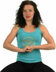 Yogi & Yogini Yoga handgeschilderde Lotus broek - Katoen - Blauw/Paars - Maat M