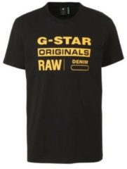 Zwarte G-Star RAW T-shirt met logoprint