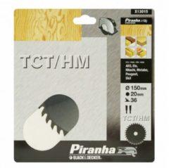 Skil BLACK+DECKER Piranha Sägeblatt für Kreissäge, TCT/HM 150x20 mm K36 X13015-XJ