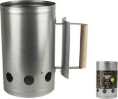 Zilveren Gusta BBQ Brikettenstarter 27x17x17cm