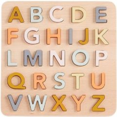 Kid's Concept Houten Vormenpuzzel Alfabet 26-delig