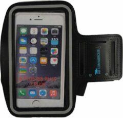 Zwarte AA Commerce Smartphone Hardloop Armband - Hardloopband - Sportband voor Iphone 6 Plus/6S & 7 Plus