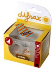 Transparante Difrax 1-2-3 Flesspeen Natural - 2 stuks