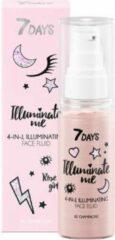 Roze 7Days 7 DAYS ILLUMINATE ME 4 in 1 Illuminating Face Fluid ROSE GIRL (Shade 01 Champagne)