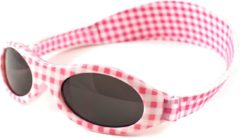 Baby Banz Banz - UV-beschermende zonnebril voor kinderen - Bubzee - Roze geblokt - maat Onesize (2-5yrs)