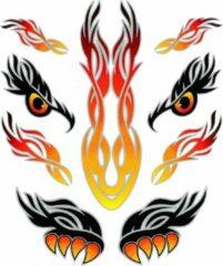 Tom Amigo Fietsstickers Eyes Tribal Zwart/oranje
