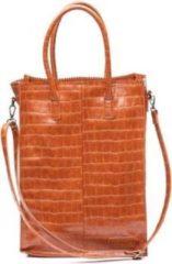 Bruine Zebra Trends Natural Bag Rosa XL Croco camel Damestas