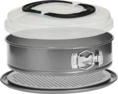 Zilveren Atmosphera bakvorm 3 in 1 uitneembare vorm met deksel: bak-bewaar- en transportcapaciteit - 2,4 L en D 26 cm