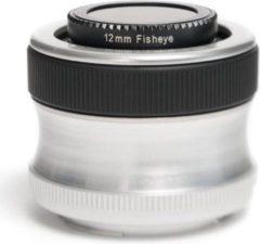 Zwarte Lensbaby Scout lens + Fisheye Optik - geschikt voor Olympus 4/3 spiegelreflexcamera's