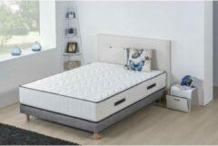 Grijze HOTEL SEIZOENEN Set matras + boxspring 140x190 cm - Schuim - 25 cm - 5 zones - DEKO DREAM