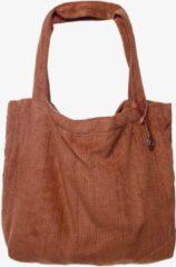 Bruine Mozz Bags MOZZ Mom Bag Easy Going Corduroy - Cognac