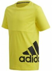 Gele T-shirt Korte Mouw adidas