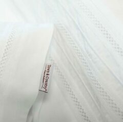 Witte Town and Country Town & Country Lakenset Maryville White-Lits-jumeaux (240x260 cm)