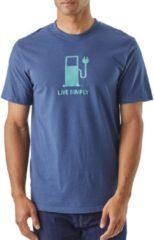 Patagonia Live Simply Power Responsibili-Tee Men Herren T-Shirt Größe S dolomite blue