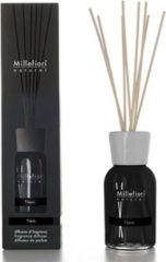 Transparante Millefiori Milano Natural geurstokjes Nero 100 ml