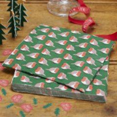 Ginger ray Christmas Patterns - Servetten Roodborstjes