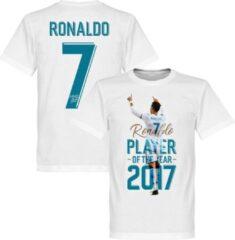 Witte Retake Ronaldo Player Of The Year 2017 T-Shirt - M