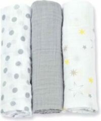 Grijze Lulujo medium swaddle - Calming Grey 3-pack