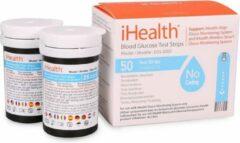Blauwe IHealth bloedsuikerteststrips (2 x 25 stuks)