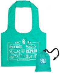 Turquoise Onya Grote Shopper Aqua gemaakt van rPet-materiaal - gerecyclede plastic drinkflessen