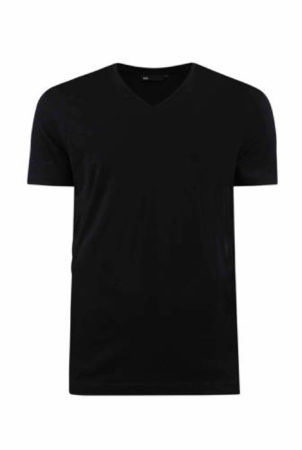 Afbeelding van Zwarte WE Fashion Fundamental slim fit T-shirt