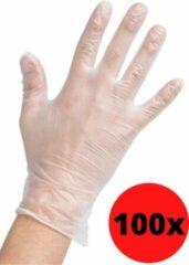 Naturelkleurige Trendio Handschoenen Wegwerp - Steriel - Medische - Vinyl - Maat S - 100 stuks