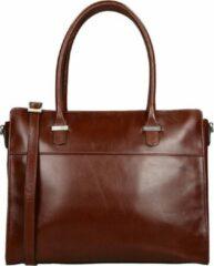 Bruine Claudio Ferrici Classico shopper 13.3 inch brown