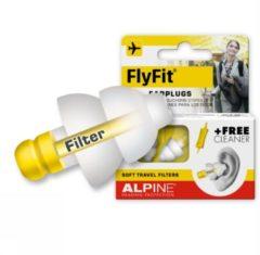 Alpine Hearing protection Alpine FlyFit - Vlieg oordoppen - Voorkomt oorpijn - Drukregulerend - Wit - SNR 17 dB - 1 paar