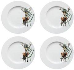 Catchii 4 x Ontbijtborden 21 cm Festive Season Hert