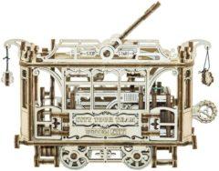 Bruine Wooden City Houten 3D-puzzel stadstram 18 cm