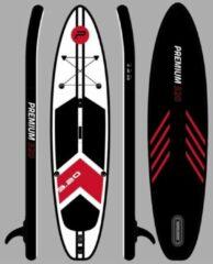 Witte Pure2improve Sup 320cm versie Premium | Opblaasbare Paddle Board (SUP-board) | Stevige kwaliteit | 150KG | Zwart