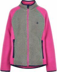 Color Kids - Fleece jas voor meisjes - Colorblock - Grijs/Roze - maat 92cm